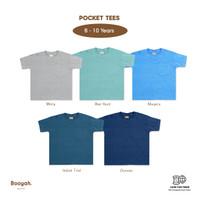 Pocket Tees (Misty, Blue Haze, Niagara, Indian Teal, Oceana) 6 - 10Y