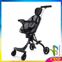 RB-C228 Magic Stroller Bayi Murah Stroler Anak Kereta Bayi Dorong Roda - HITAM ABU