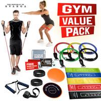 SVARGA Resistance Band / Resistance Tube Muscle Toning Pack