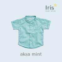 Kemeja Koko Lengan Pendek Anak Laki-Laki - Iris - Mint Hijau Tosca