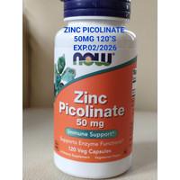 NOW FOODS ZINC PICOLINATE 50 mg, 120 VEG CAPSULES