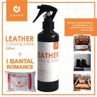 Pembersih Kulit Durante Leather Clean & Shine + Bantal Romance