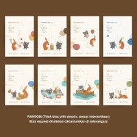 Greeting Card Kartu ucapan The Brown Hare The Hoppers