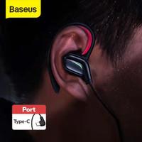 BASEUS HANDSFREE GAMO C18 TYPE-C WIRED EARPHONE GAMING MIC GAMING - Merah