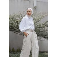 Veyl Store Iu Top Atasan Wanita Bahan Tencel Warna Putih