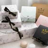 Gift Box Lipat Polos/Kotak Dus Hamper Bingkisan Kado Aksesoris - Marble, (GB3) Kecil