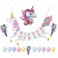 Paket Dekorasi Balon Pesta Ulang Tahun Hemat Unicorn Macaron
