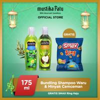 [Mustika Ratu] Bundling Shampoo waru & minyak cemceman 175ml free Smax