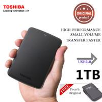 Toshiba Hardisk Eksternal 1TB HDD External Free Original Pouch Laptop - Ori no bag