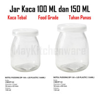 Toples Kaca Kedap Udara Botol Jar Beling Pudding Puding Susu Yoghurt