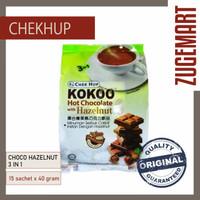 ChekHup Kokoo 3in1 Hot Choco with Hazelnut 40 gr/15 sch Minuman Coklat