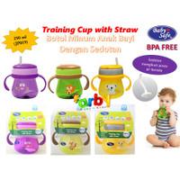 JP019 Baby Safe Botol Minum Sedotan / Cangkir Bayi Dengan Pemberat-Cup