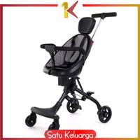 SK-C228 Magic Stroller Bayi Murah Stroler Anak Kereta Bayi Dorong Roda - HITAM ABU