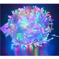 Lampu Natal LED Tumbler 10 Meter Warna Warni Rainbow / Lampu Hias