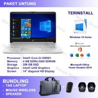 Laptop HP 14s cf3076TU Win10 OHS 2019 Bonus Tas Laptop Mouse Speaker