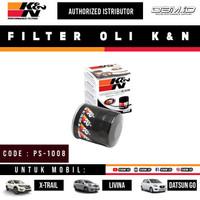 Filter Oli K&N KNN Nissan Livina Xtrail Serena March Datsun Go PS-1008