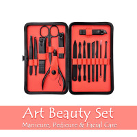 Art Beauty Set 15in1 Kit Pedicure Manicure Facial Care Stainless Steel