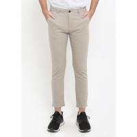 TRIPLE Celana Ankle Pant Slim Fit (312 828 LKH) -Light Khaky