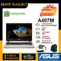 LAPTOP ASUS A407MA N4000 RAM 4GB   HDD 1TB   14INCH   WIN10 - Abu-abu