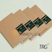 Buku Notebook B5 Dot Grid Plain Ruled TRG - TRG Kraft Cover Spiral Not