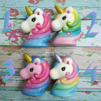 Squishy Murah Rainbow Unicorn Head / Kepala Unicorn