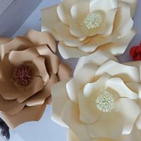 paper flower dekorasi backdrop D.30cm