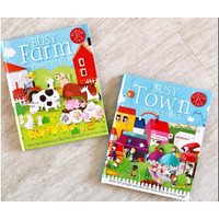 Busy Town Busy Farm Pop Up Things To Find Education Book Buku Import