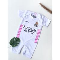 Jumpsuit Real madrid Home / Romper Baju Bola Bayi Real Madrid