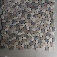 mozaic pebble tile batu alam