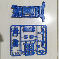 AULDEY MINI 4WD CHASIS LV SUPER CHASIS BLUE