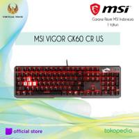 MSI VIGOR GK60 CR US GAMING Keyboard Garansi Resmi MSI Indonesia 1 thn