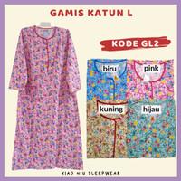 Gamis Katun Siu Lie L / Baju Tidur Long Dress Wanita