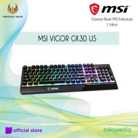 MSI VIGOR GK30 US GAMING Keyboard Garansi Resmi MSI Indonesia 1 thn