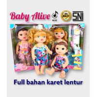 Mainan Anak Boneka Baby Alive (Minum,Pipis,Menangis,panggil Papamama)