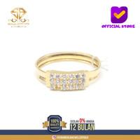 SBJ1 - cincin emas kuning asli wanita terbaru kadar 700 CMK136 R15
