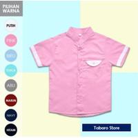Baju Atasan Anak Laki Laki Model Kemeja Warna Pink Vintage Untuk Anak