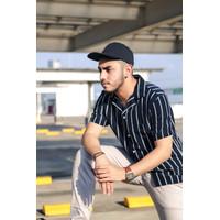 Kemeja Shirt Pria | Semi Formal Motif Garis-Garis Horizontal