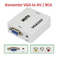 VGA to AV Konverter VGA to RCA Video Converter Full HD High Resolution