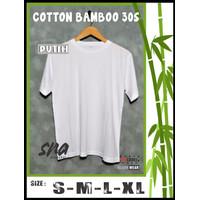 Kaos / Tshirt Polos Cotton Bamboo 30s PUTIH - S