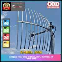 Antena Yagi Grid Modem, Mifi, Router, HP 4G (GRID-20M)