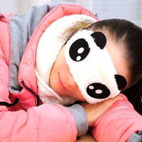 TS Penutup Mata Panda Tidur Sleeping Eye untuk Anak dan Bayi Bulu