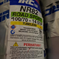 BAN MOTOR MATIC MIO XRIDE TUBLESS IRC 100/70-14 NR82 + BONUS