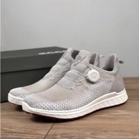 Sepatu golf ecco boa fabric breatable nailles golf shoes - 39