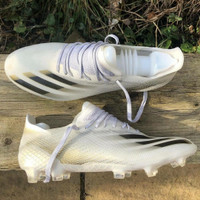 Sepatu Bola Adidas X 1 Ghosted White Black Gold Fg - soccer adidas