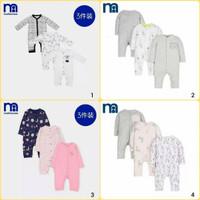 Mothercare Baby Sleepsuits - Baju Tidur Bay - Warna Multi- 3 p