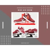 Sepatu Olahraga Nike Zoom Pria Wanita Merah Maroon Import Nike Air