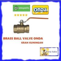 Ball valve brass Onda 3 inch stop kran kuningan 3 Onda