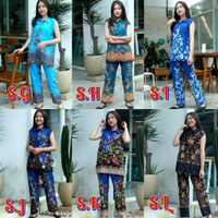 Setelan Baju Batik Celana Panjang Wanita Primis Unggul Jaya