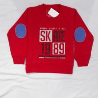Sweater Baju Hangat Anak kecil Laki laki lengan panjang bahan katun - Skate merah, 8