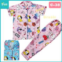 Piyama Anak 11-12 tahun / Baju Tidur Anak Perempuan / bisa COD / V-02